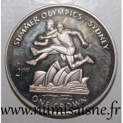 ISLE OF MAN - KM 930 - 1 CROWN 2000 - OLYMPIC GAMES - SYDNEY - HURDLE RACE