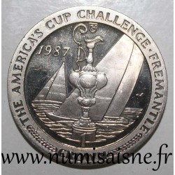 ISLE OF MAN - KM 183 - 1 CROWN 1987 - America's Cup Challenge