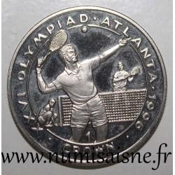GIBRALTAR - KM 348 - 1 CROWN 1996 - OLYMPIC GAMES - ATLANTA - Tennis
