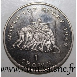 ISLE OF MAN - KM 934 - 1 CROWN 1999 - RUGBY WORLD CUP