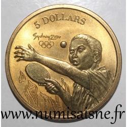 AUSTRALIA - KM 419 - 5 DOLLARS 2000 - OLYMPIC GAMES - Sydney - Table tennis