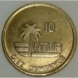 CUBA - KM 415.2 a - 10 CENTAVOS 1989