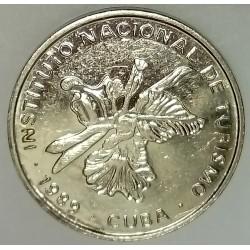 CUBA - KM 418.2 - 25 CENTAVOS 1989