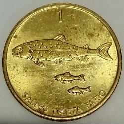 SLOVENIA - KM 4 - 1 TOLAR 1998