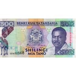 TANZANIA - PICK 26 a - 500 SHILINGI - NO DATE (1993)