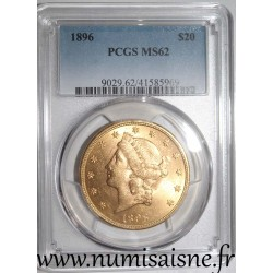 UNITED STATES - KM 74 - 20 DOLLARS 1896 - LIBERTY HEAD - DOUBLE EAGLE - PCGS MS 62