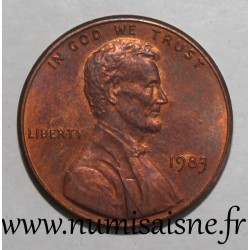 UNITED STATES - KM 201a - 1 CENT 1983 - LINCOLN MEMORIAL PENNY