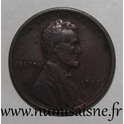 UNITED STATES - KM 132 - 1 CENT 1916 - Lincoln - Wheat Penny