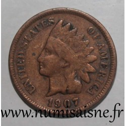 UNITED STATES - KM 90a - 1 CENT 1907 - INDIAN HEAD