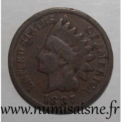 UNITED STATES - KM 90a - 1 CENT 1887 - INDIAN HEAD