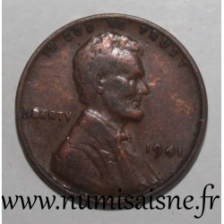 UNITED STATES - KM 132 - 1 CENT 1941 - Lincoln - Wheat Penny