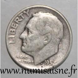 UNITED STATES - KM 195 - 1 DIME 1952 - FRANKLIN ROOSEVELT