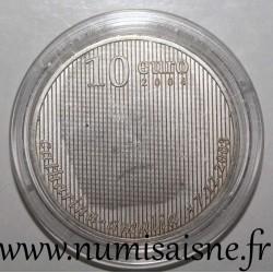 NETHERLANDS - KM 248 - 10 EURO 2004 - Birth of Princess Catharina Amalia
