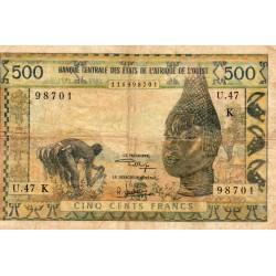 WEST AFRICAN STATES - SENEGAL - PICK 702 K. k - 500 FRANCS - NO DATE - B C E A O