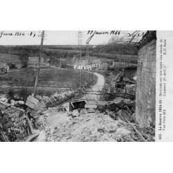 County - 62 - PAS DE CALAIS - CARENCY - THE WAR 1914-15 - BARRICADE ON A ROAD