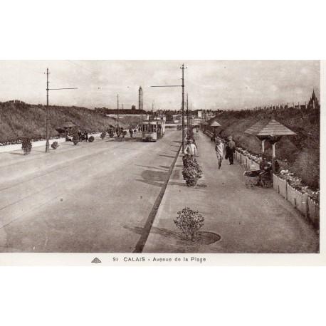 County - 62 - PAS DE CALAIS - CALAIS - AVENUE DE LA PLAGE