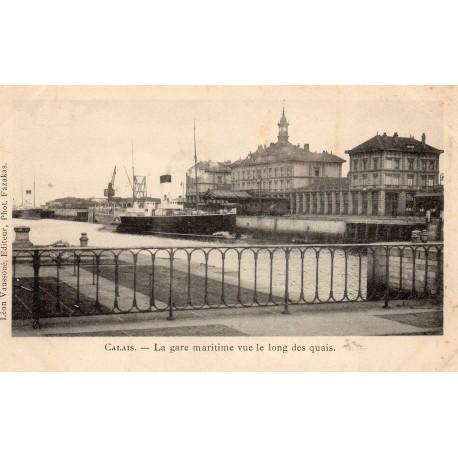 KOMITAT 62 - PAS DE CALAIS - CALAIS - DER BAHNHOF ENTLANG DER BAHNSTEIGE