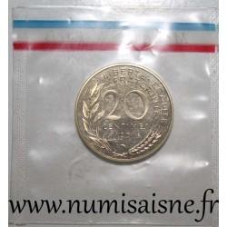 GADOURY 56 P1 - 20 CENTIMES 1983 - TYPE MARIANNE - PIEFORT