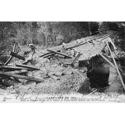 County - 62 - PAS DE CALAIS - WAR 1914 - TRUIT RAILWAY BRIDGE - PARIS-CALAIS LINE
