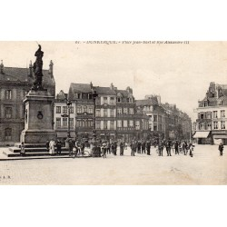 County 59 - LE NORD - DUNKERQUE - PLACE JEAN BART AND RUE ALEXANDRE III