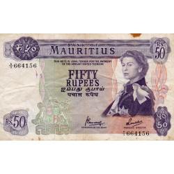 MAURITIUS - PICK 33 - 50 RUPEES - (1967)