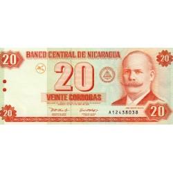 NICARAGUA - PICK 192 - 20 CORDOBAS - 2002