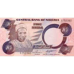 NIGERIA - PICK 24 f - 5 NAIRA 2001