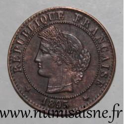 FRANCE - KM 826 - 1 CENTIME 1895 A - Paris - TYP CÉRÈS