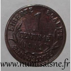 FRANCE - KM 840 - 1 CENTIME 1912 - TYPE DUPUIS