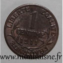 FRANCE - KM 840 - 1 CENTIME 1911 TYPE DUPUIS