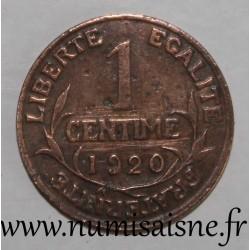 FRANCE - KM 840 - 1 CENTIME 1920 - TYPE DUPUIS