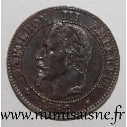 FRANCE - KM 796 - 2 CENTIMES 1862 Big BB - Strasbourg - TYPE NAPOLEON III