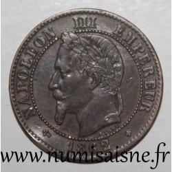 FRANCE - KM 796 - 2 CENTIMES 1862 Small BB - Strasbourg - TYPE NAPOLEON III
