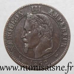 FRANCE - KM 796 - 2 CENTIMES 1862 K - Bordeaux - TYPE NAPOLEON III