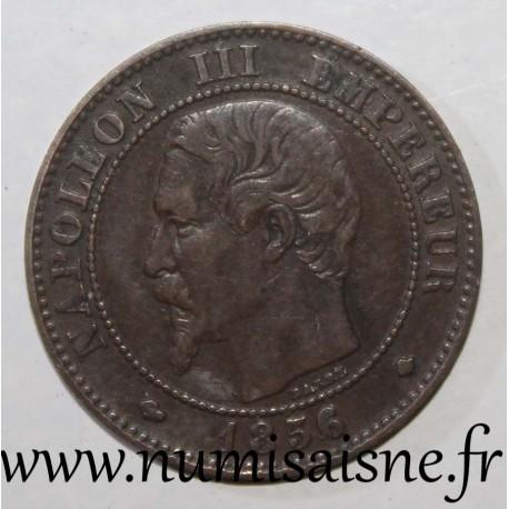 FRANCE - KM 776 - 2 CENTIMES 1856 BB - Strasbourg - NAPOLÉON III