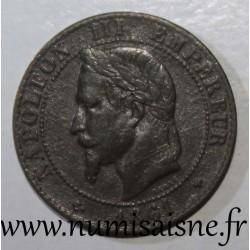 FRANCE - KM 796 - 2 CENTIMES 1861 BB - Strasbourg - TYPE NAPOLEON III