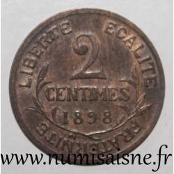 FRANCE - KM 841 - 2 CENTIMES 1899 - TYPE DUPUIS