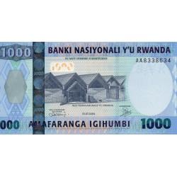 RWANDA - PICK 31 - 1 000 FRANCS - 01/07/2004 - GOLDEN MONKEY