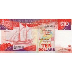 SINGAPORE - PICK 20 - 10 DOLLARS 1988