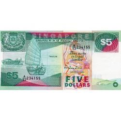 SINGAPORE - PICK 19 - 5 DOLLARS - (1989)