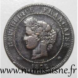 FRANCE - KM 821 - 5 CENTIMES 1872 A - Paris - TYPE CÉRÈS - Small A