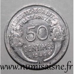 FRANCE - KM 914 - 50 CENTIMES 1946 B - Beaumont le Roger - TYPE MORLON ALU