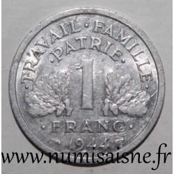FRANCE - KM 902 - 1 FRANC 1944 B - Beaumont le Roger - TYPE BAZOR