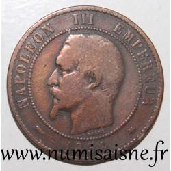 FRANCE - KM 771 - 10 CENTIMES 1854 BB - Strasbourg - NAPOLEON III - Little Bee