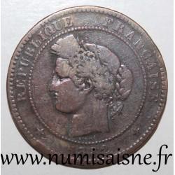 FRANCE - KM 815 - 10 CENTIMES 1882 A - Paris - TYPE CERES