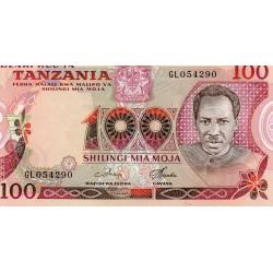 TANZANIA - PICK 8 d - 100 SHILINGI - NO DATE (1977)