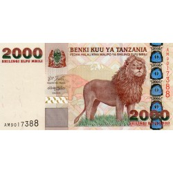 TANZANIA - PICK 37 - 2.000 SHILINGI - NON DATE (2003) - LION