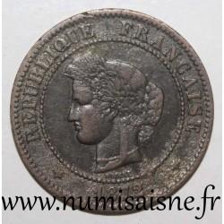 FRANCE - KM 821 - 5 CENTIMES 1872 A - Paris - TYPE CÉRÈS