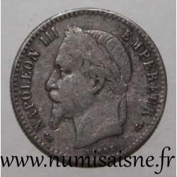 FRANCE - KM 814 - 50 CENTIMES 1864 K - Bordeaux - TYPE NAPOLÉON III