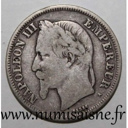 FRANCE - KM 807 - 2 FRANCS 1869 A - Paris - TYPE NAPOLÉON III